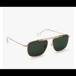 KREWE  Avalon Sunglasses - 24K + Crystal (NWT) Lifetime Warranty